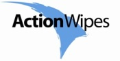 Action Wipes logo.